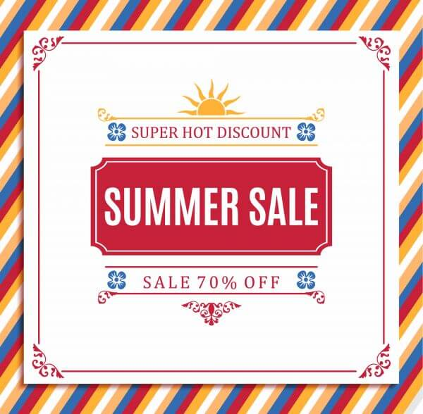 Summer sale abstract blur background. vector