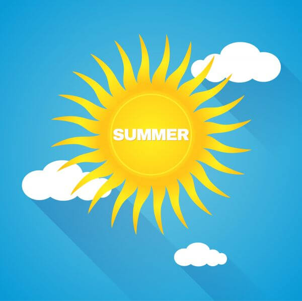 Nature summer background vector