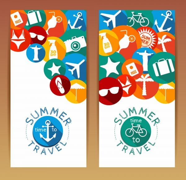 Nature summer background. Banners set. vector