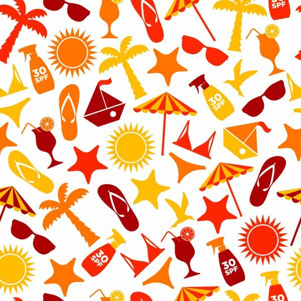 Seamless pattern of summer vector