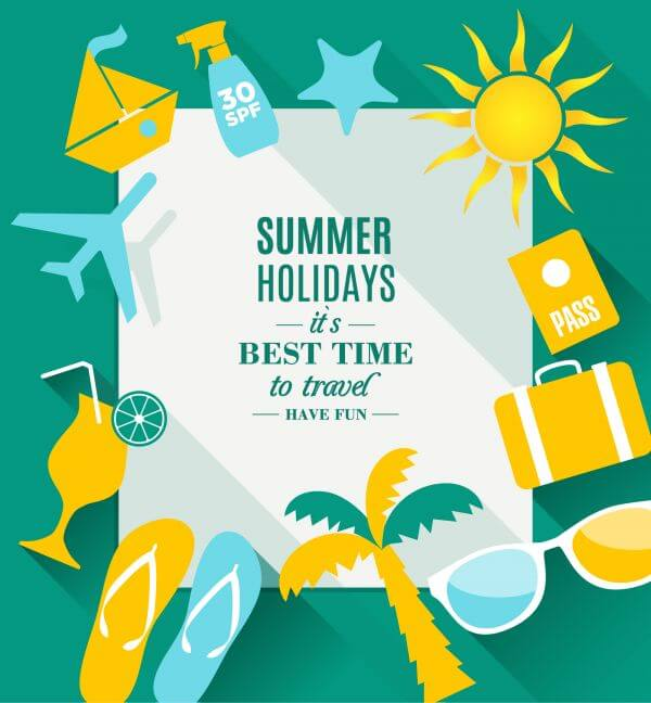 Summer holidays texture vector
