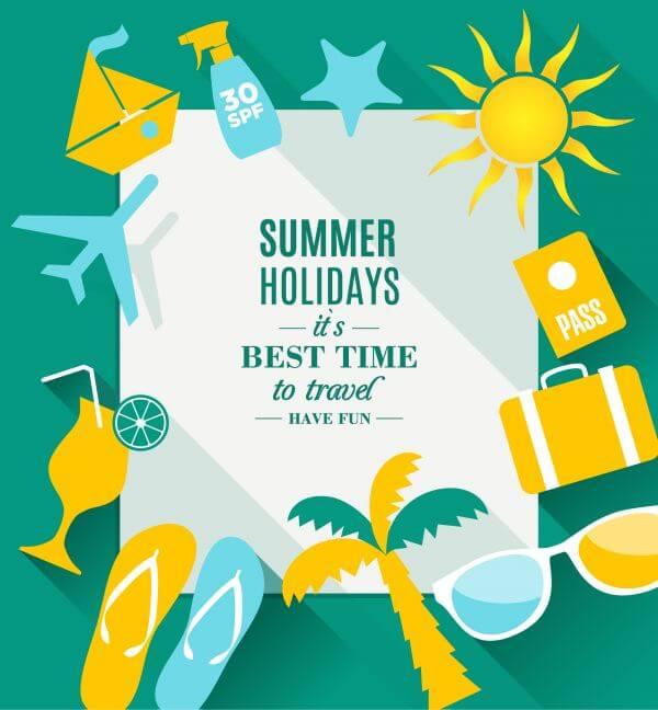 Summer holidays texture vector