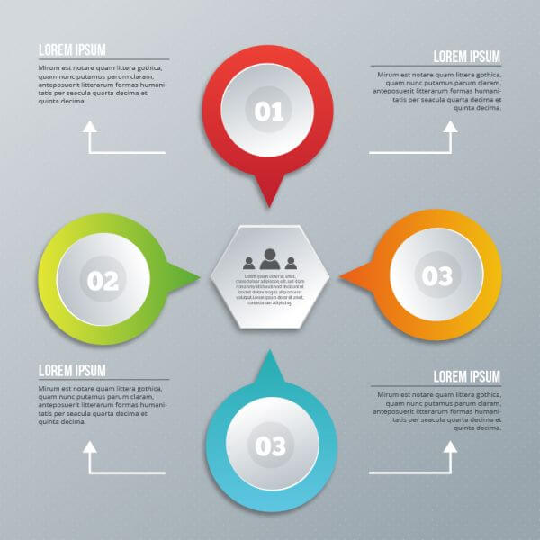 Infographic design on the grey background vector