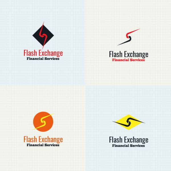 Exchange logo design vector