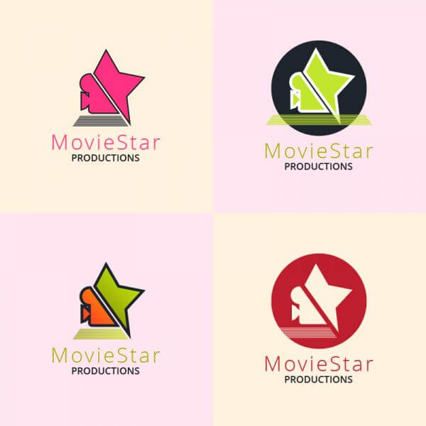 Movie production logo design vector