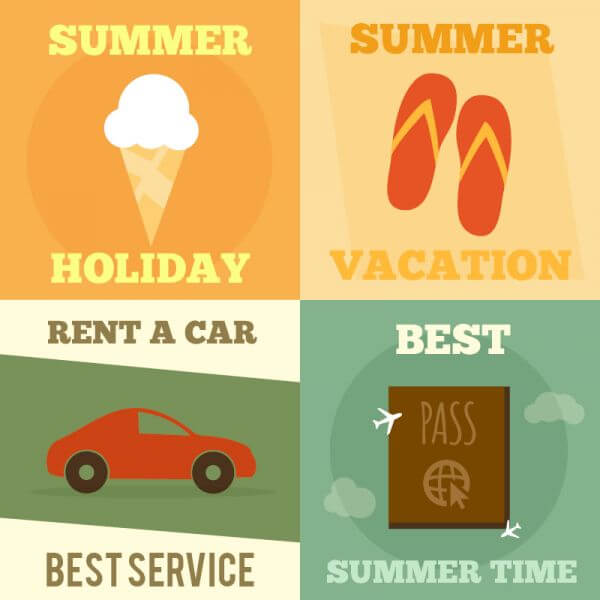 Summer posters vector