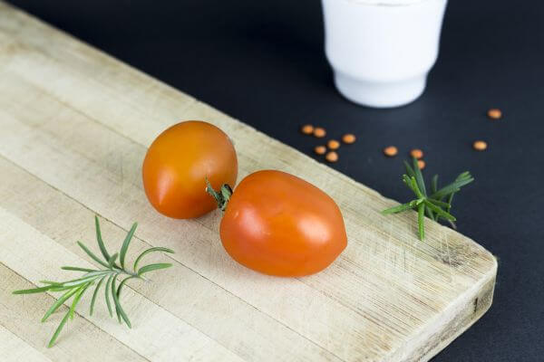 Tomatoes on Table photo