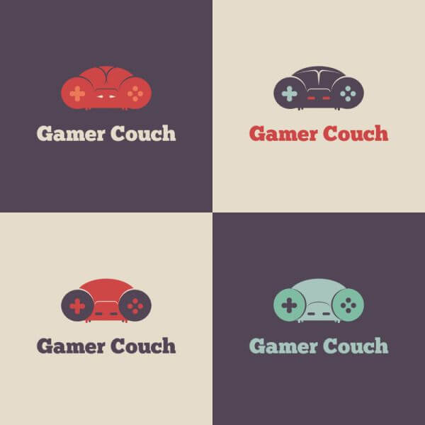 Gamer Couch Vector Logo vector