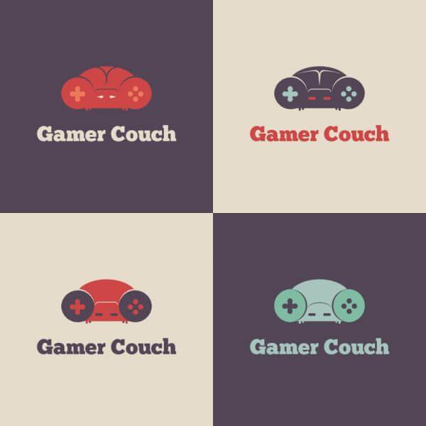 Gamer Couch Vector Logo vector