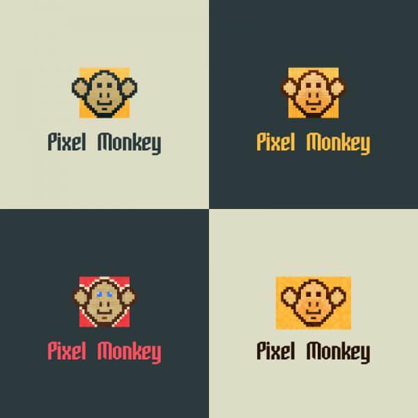 Pixel Monkey Vector Logo vector