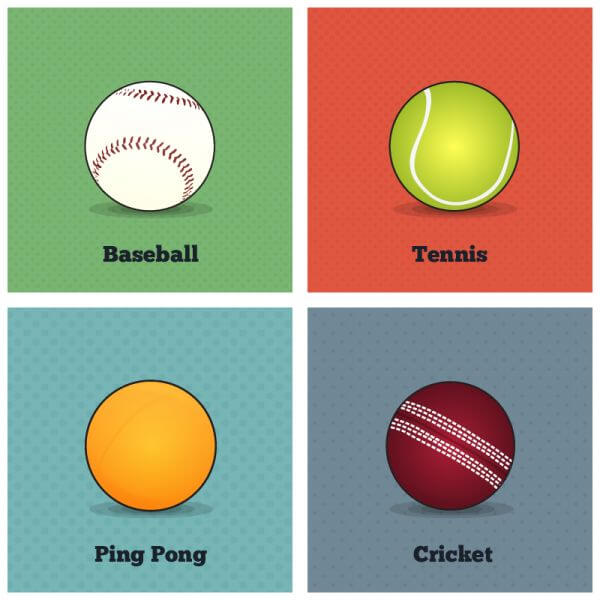 Vector Sports Balls vector
