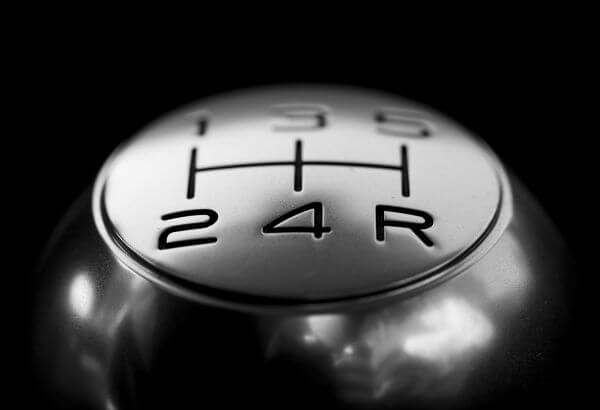Gear Shift over Black Background photo