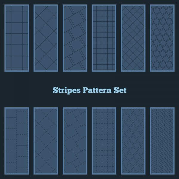 Stripes Pattern Set vector