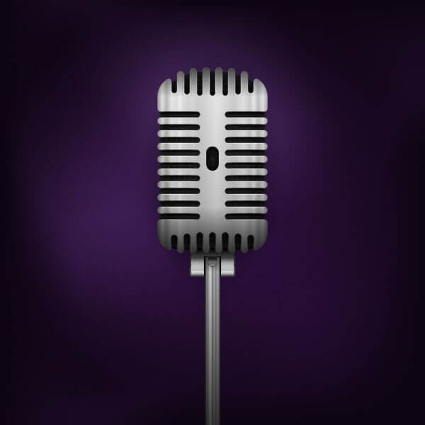 Retro Vector Microphone vector