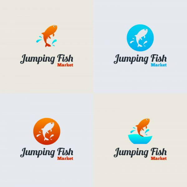 Jumping Fish Vector Logo vector