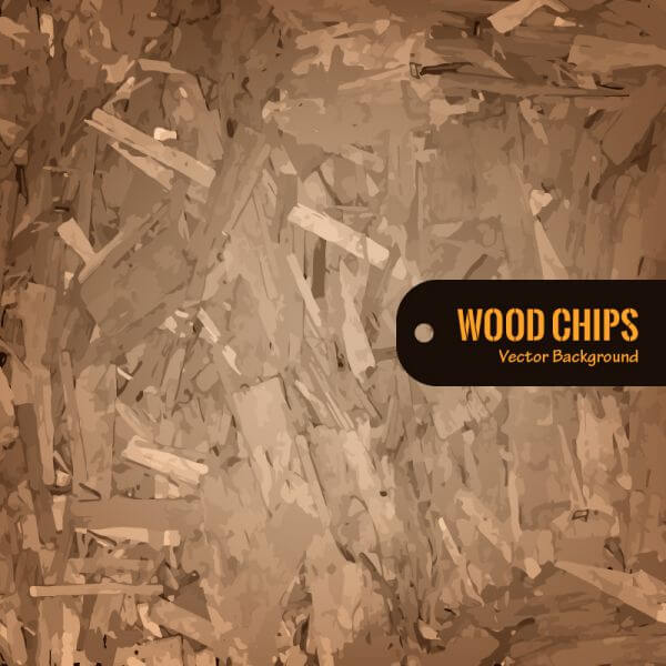Wood Chips Vector Background vector