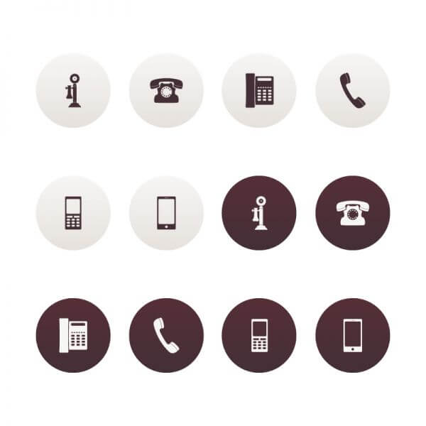 Vector Phone Icons vector