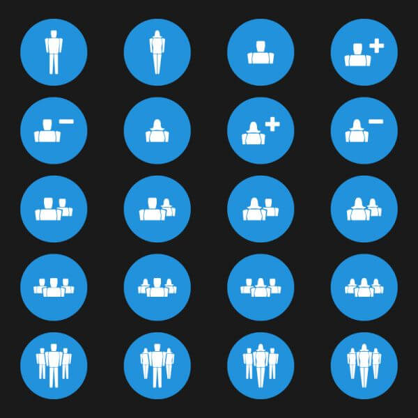 People Vector Icons vector