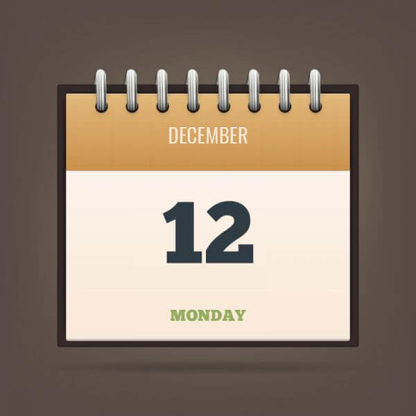 Detailed Vector Calendar Icon vector