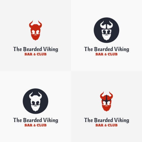 The Bearded Viking Vector Logo vector