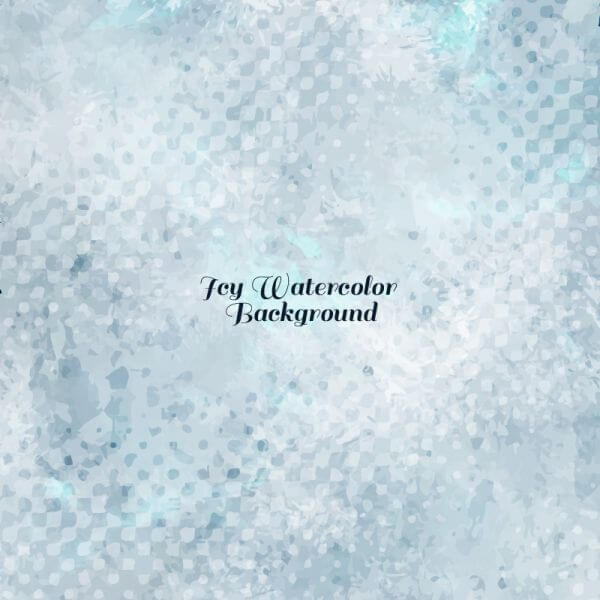 Icy Watercolor Vector Background vector