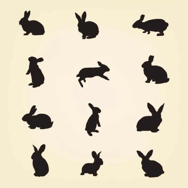 Rabbit Vector Silhouette Pack vector