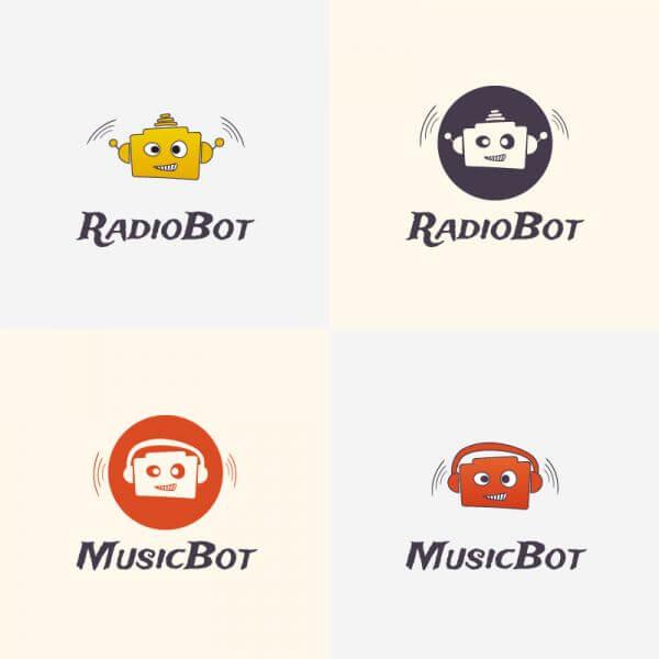 Radio Robot Vector Logo vector
