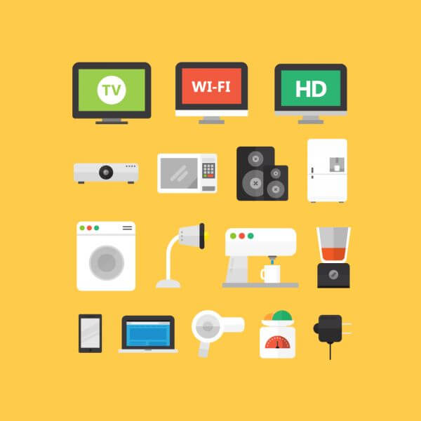 Electronic Appliance Icons vector