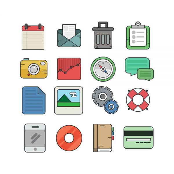 Flat Icons for UI Design vector