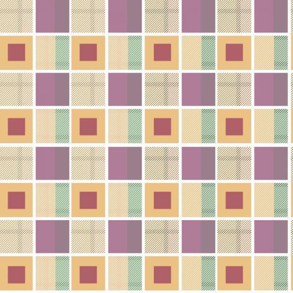 Geometric plaid background vector