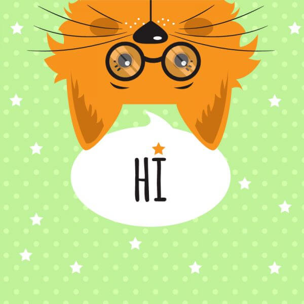 Cat with chat bubble vector illustration  vector