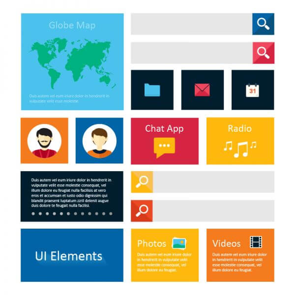 Infographic webpage elements vector