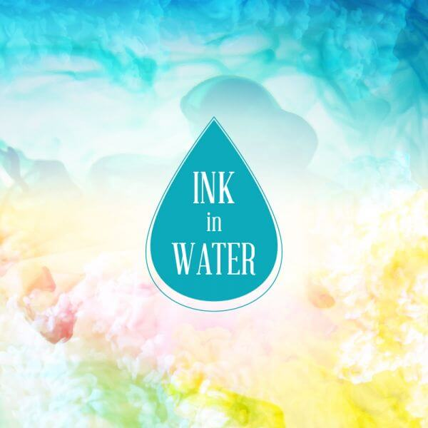 Ink in water background vector