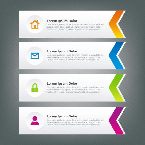 Infographic arrow design vector