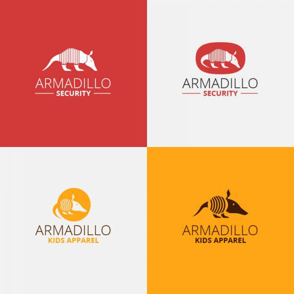Security armadillo logo design vector