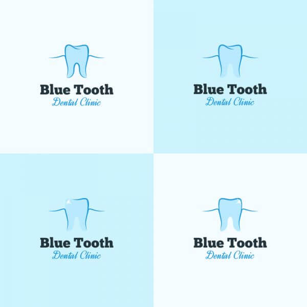 Dental clinic logo design vector