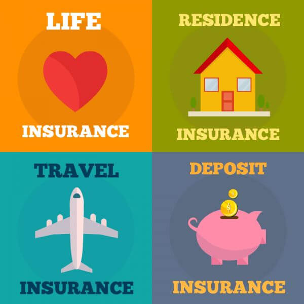 In surance flat concept design vector