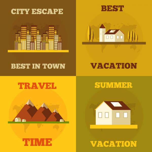 Travel flat concept design vector