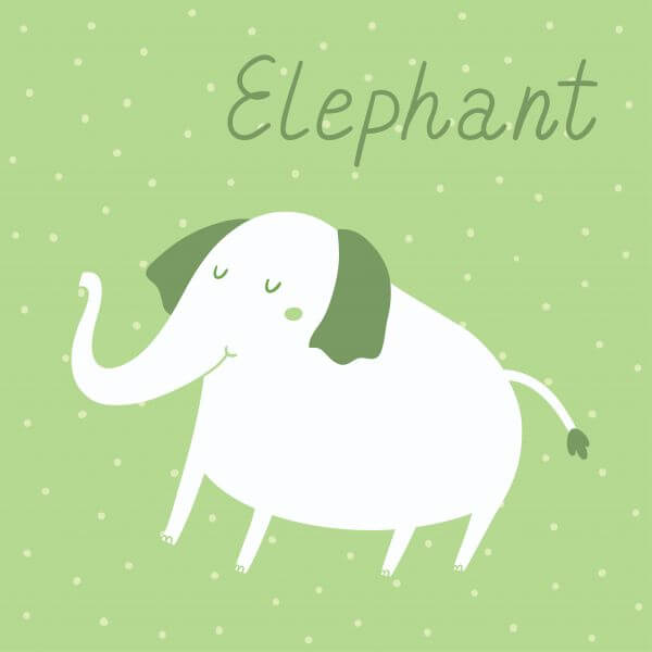 Vector illustration of an elephant vector