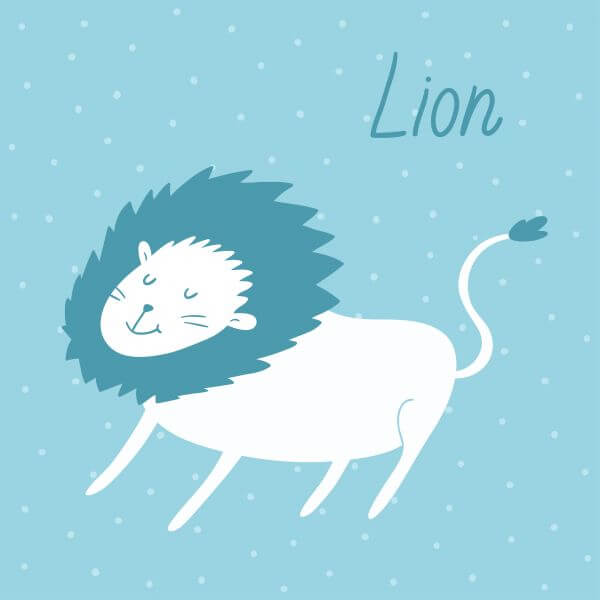 Vector illustration of a lion vector