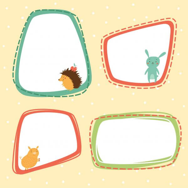 Cute frames vector set vector