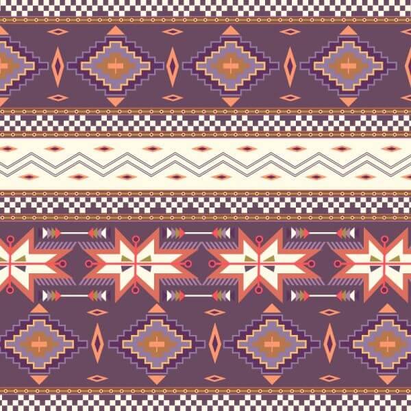 Aztec background vector