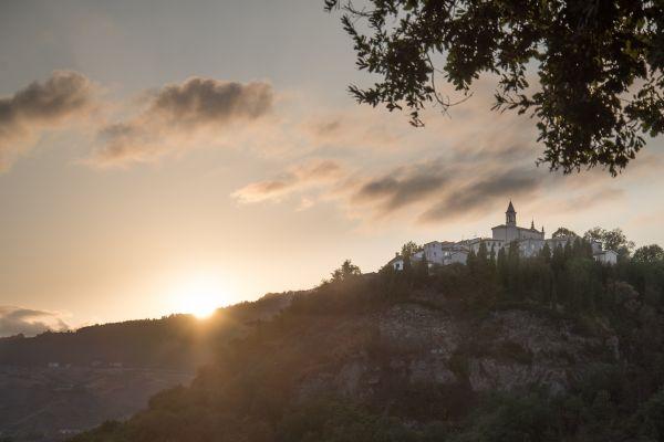 San Marino at sunset photo