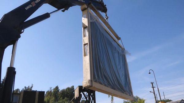 Crane  box  move video