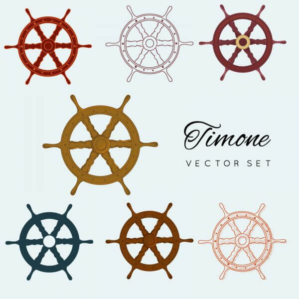 Ship wheels vector
