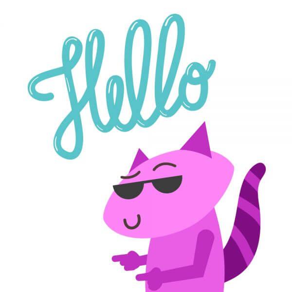 Raccoon Says Hello vector