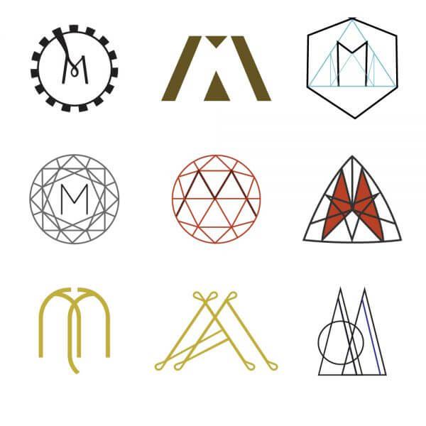 Letter M Monograms vector