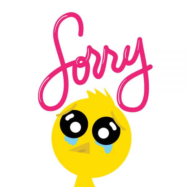 Chicken Says Sorry vector