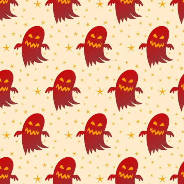 Halloween background with ghosts vector