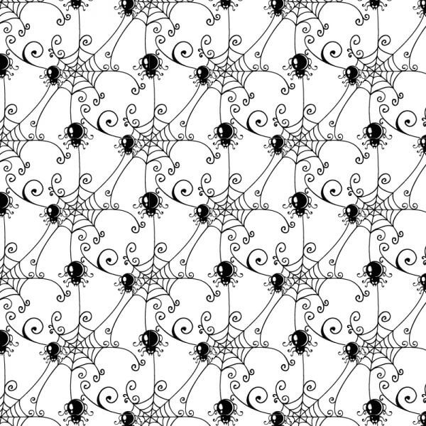 Pattern with spider web background vector